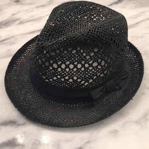 H&M black fedora hat